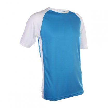 APP0093 Quick Dry Raglan T-shirt - Sea Blue/White