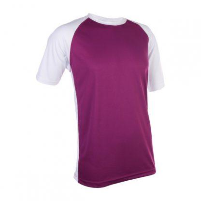 APP0093 Quick Dry Raglan T-shirt - Dark Purple/White
