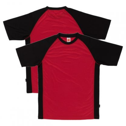 APP0093 Quick Dry Raglan T-shirt - Red/Black
