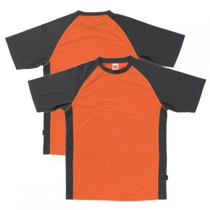 APP0093 Quick Dry Raglan T-shirt - Orange/Grey