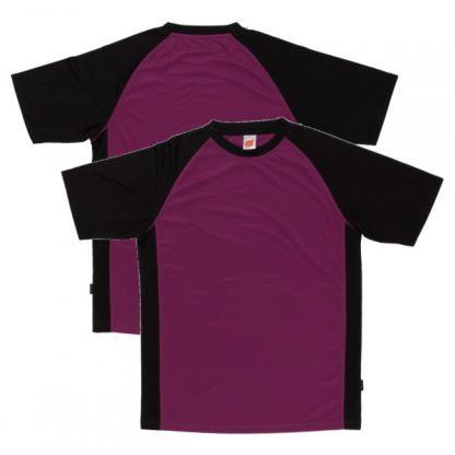 APP0093 Quick Dry Raglan T-shirt - Dark Purple/Black