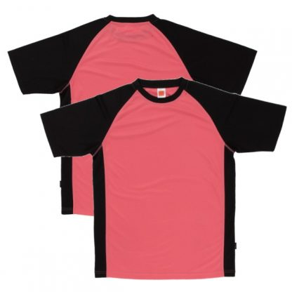 APP0093 Quick Dry Raglan T-shirt - Peach/Black/Black