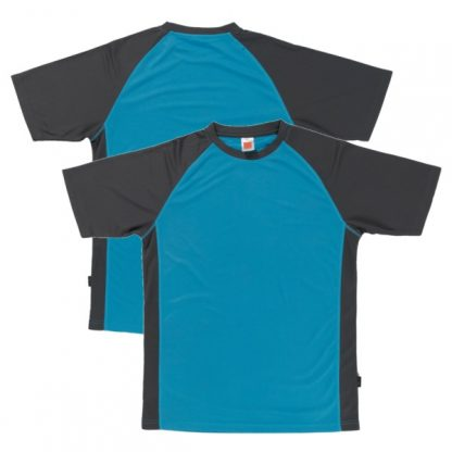 APP0093 Quick Dry Raglan T-shirt - Sea Blue/Grey