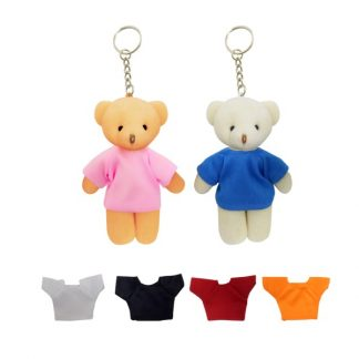 KEY0133 Keychain Teddy Bear with tee - 13cm Height