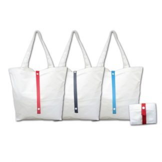 BG0847 Foldable Cotton Canvas Bag with Colored Strap