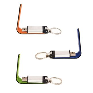 IT0585 PU Leather USB Flash Drive with Key Ring - 8GB