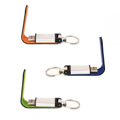 IT0585 PU Leather USB Flash Drive with Key Ring - 8GB