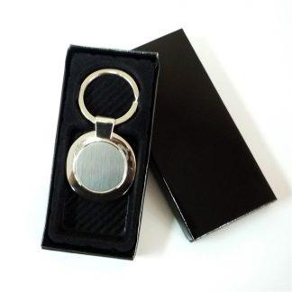 KEY0113 Round Metal Keychain