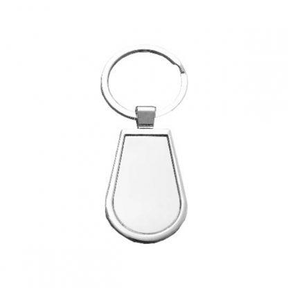 KEY0136 Water Drop Shape Metal Keychain