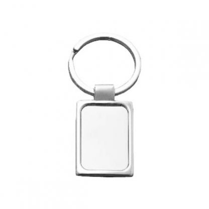 KEY0138 Rectangle Shape Metal Keychain