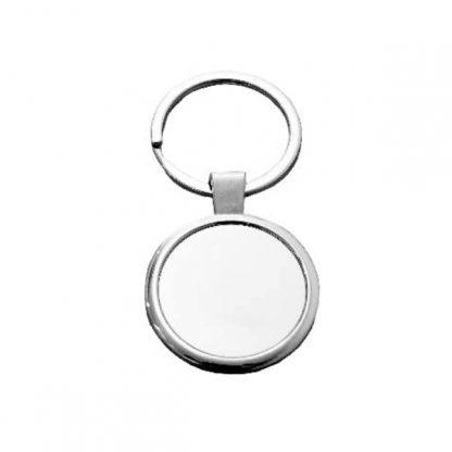 KEY0139 Round Shape Metal Keychain