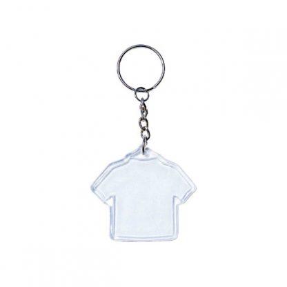 KEY0143 Acrylic Tee Shape Metal Keychain