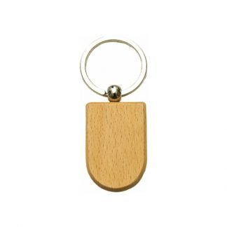 KEY0145 Wooden Metal Keychain