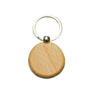 KEY0146 Wooden Metal Keychain