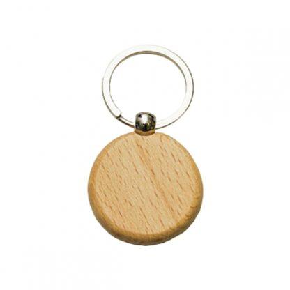 KEY0146 Wooden Metal Keychain