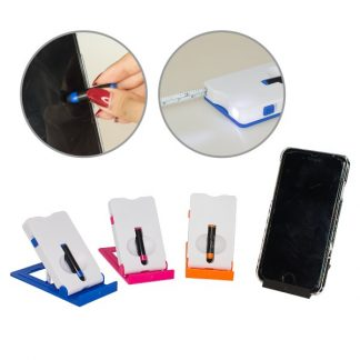 LSP0503 - 4 in 1 Phone Stand with Light Measuring Tape and i-Stylus