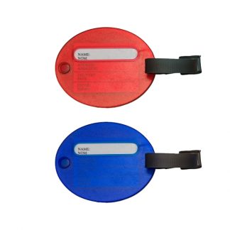 LSP0648 Oval Shape Luggage Tag