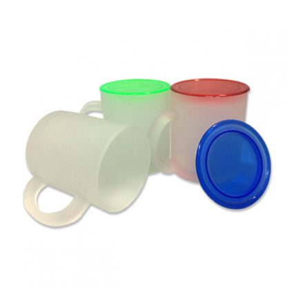 MGS0067 Frosty Glass Mug with Coloured Cover