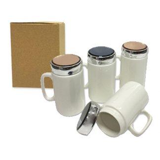 MGS0599 Porcelain Mug with Cover - 400ml