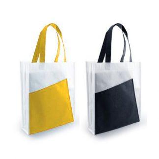 NWB0040 80gsm White A4 2-Tone Non-Woven Bag