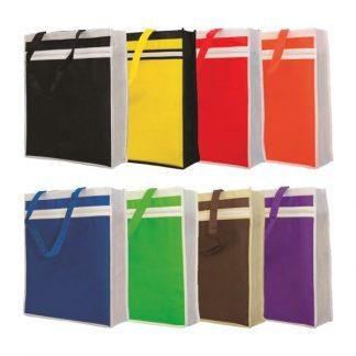 NWB0062 Zipper Front Pocket Non-Woven Bag