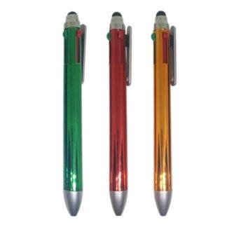PEN0521 - 4 in 1 Metallic Pen with Stylus