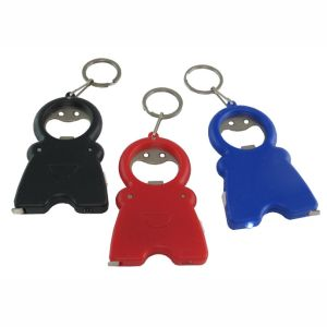 TT0304 Keychain with Bottle Opener LED Light & Measuring Tape