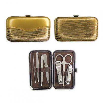 TT0333 - 7 piece Manicure Set in Shiny Gold