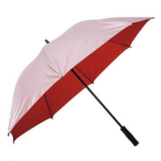 "UMB0105 - 30"" Silver Coated Umbrella with Straight Handle - Red"