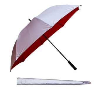 UMB0112 – 30″ Silver Coated Golf Umbrella with Straight Handle