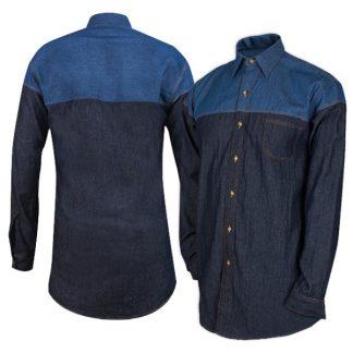 APP0199 Denim Long Sleeve Shirt