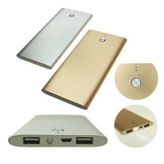 IT0472 Powerbank with 2 USB Ports & Flashlight - 10000mAh