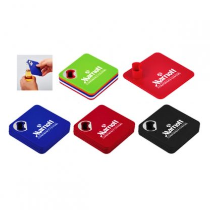 LSP0671 - 4pcs Coaster Set with Bottle Opener