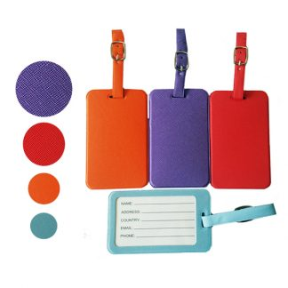 LSP0674 PU Luggage Tag with Belt