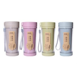 MGS0618 Eco Friendly Wheat Tumble with Strap - 420ml