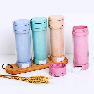 MGS0620 Eco Friendly Wheat Bottle with Phone Holder - 500ml