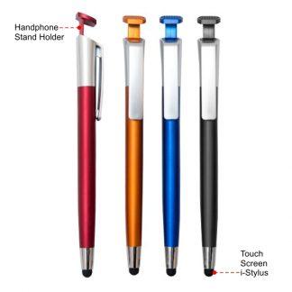 PEN0653 Ball Pen with i-Stylus & Handphone Stand Holder