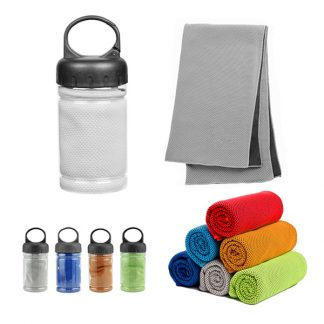 TWL0055 Micro Fibre Cooling Towel with Carabiner Case