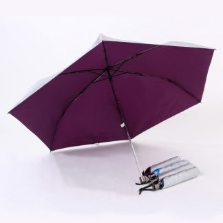 UMB0072 Rubber Handle Foldable Slim Umbrella