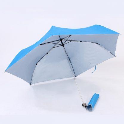 UMB0073 Rubber Handle Foldable Slim Umbrella