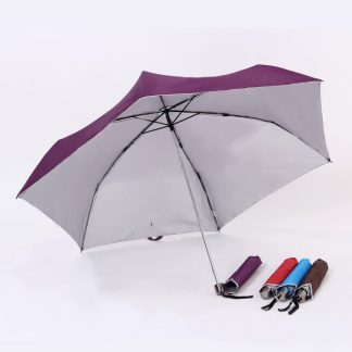 UMB0073 Rubber Handle Foldable Slim Umbrella