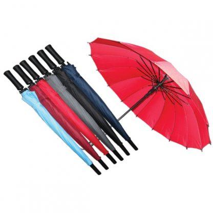 UMB0085 - Customised 16 Ribs Regular Solid Auto Open Umbrella