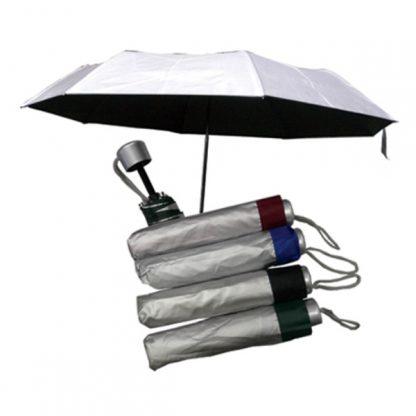 UMB0087 Silver Coated Standard Foldable Umbrella