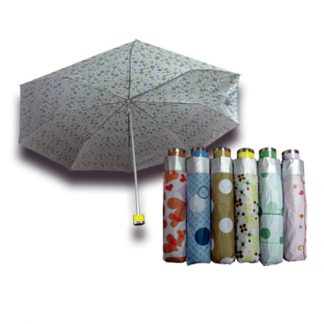 UMB0088 Silver Coated Printed Foldable Umbrella