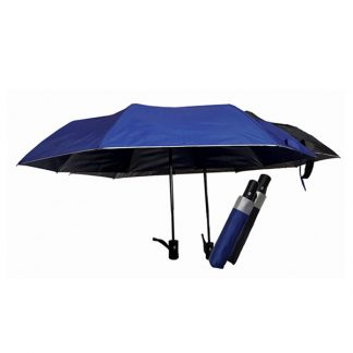 UMB0090 Silver Coated Auto Open Foldable Umbrella