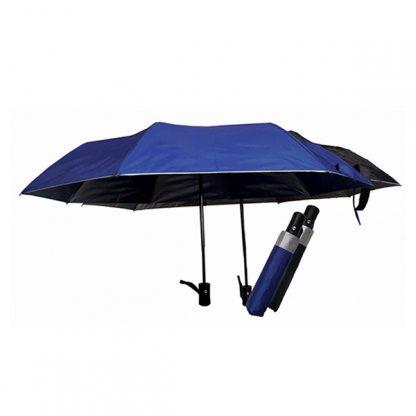 UMB0090 Silver Coated Auto Open Foldable Umbrella