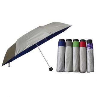 UMB0093 Silver Coated Lightweight Foldable Umbrella