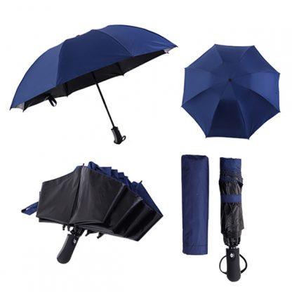 UMB0113 Black Coated Auto Open Inverted Foldable Umbrella