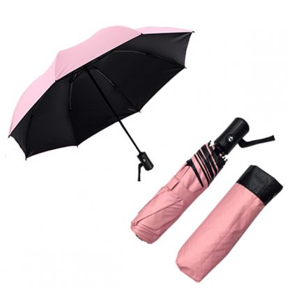 UMB0114 Black Coated Auto Open Foldable Umbrella