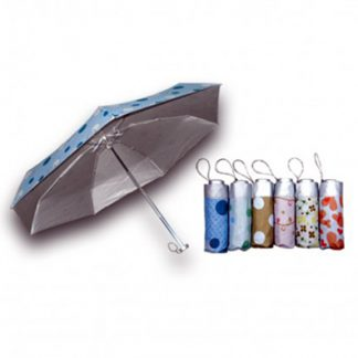 UMB0116 – 5 Folds/Section Printed Silver Coated Foldable Umbrella